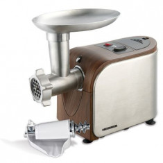 Masina de tocat Heinner MG16TA-WX, 1600W, accesoriu suc rosii si palnie carnati