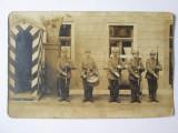 Rara! Fotografie carte poștală schimbarea gărzii in armata germană WWI