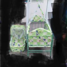 Patut copii + landou, 125X65cm, Verde