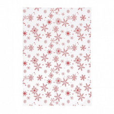 Prosop de bucatarie- model craciun alb dimensiune 50x70 cm material