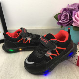 Cumpara ieftin Adidasi negri cu lumini LED si scai pt baieti / fete 24 25 29 cod 0791, Unisex