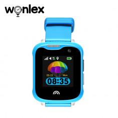 Ceas Smartwatch Pentru Copii Wonlex KT05 cu Functie Telefon, GPS, Camera, IP67 - Albastru