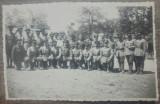 Fotografie de grup cu militari romani// tip CP