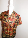 Brand Liz Claiborne , bluza noua matase naturala marimea 4- 42, Maneca scurta, Casual