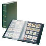 Clasor timbre LINDNER Luxus 30file/60pagini negre, caseta, verde