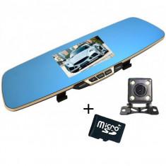 Camera Auto iUni Dash B600 Oglinda, Dual Cam, Full HD, LCD 4,3 inch, Foto, Playback + Card 16GB Cadou
