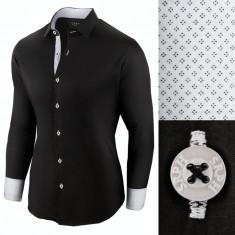 Camasa pentru barbati casual negru regular fit Business Class Ultra