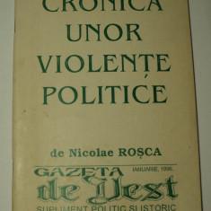 Cronica unor violente politice, Nicolae Rosca, Gazeta de Vest Timisoara, 1996