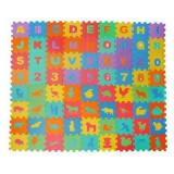 Covor puzzle Iso Trade, 16 x 16 cm, spuma, 72 piese, 6 luni+, Multicolor