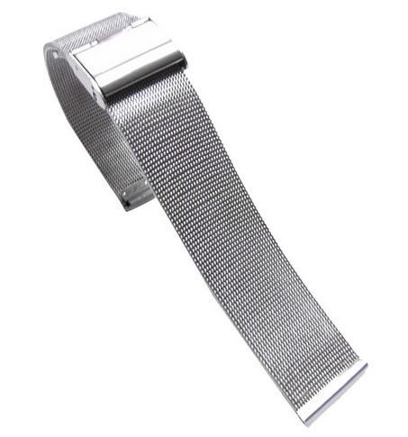 Bratara Ceas MILANEZA Impletita Argintie 12mm - 24mm WZ1235