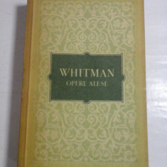 WHITMAN - OPERE ALESE