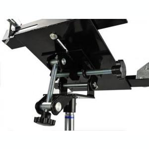 Cric hidraulic 2 trepte cu suport pentru cutie de viteze si pompa la picior, 500 kg