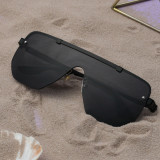 Ochelari De Soare Unisex Shield Vico Negru Negru