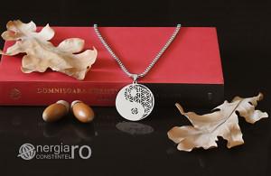 Pandant, Medalion, Pandantiv Yin Yang cu Floarea Vietii - cod PND087