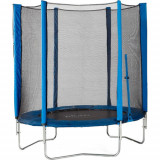 Set Trambulina cu Plasa de Protectie Junior Blue 140 cm