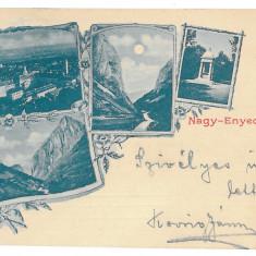 3831 - AIUD, Alba, Litho, Romania - old postcard - used - 1900, Circulata, Printata