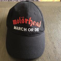 Sapca noua originala,Motorhead-March or die,logo brodat