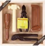 Figurine in cutie de lemn - ciocolata neagra Comptoir de Mathilde   Comptoir de Mathilde