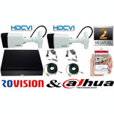 Cumpara ieftin Sistem supraveghere 2 camere Rovision 2MP HDCVI ( oem dahua ) , DVR 4 canale, accesorii incluse