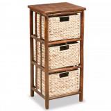 Dulap cu sertare, 36 x 33 x 80 cm, bambus și zambilă de apă