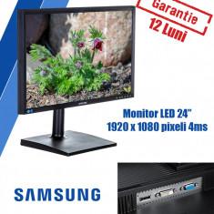 Monitor LED Samsung LS24E65UDW 24 inch 4 ms Black 1920x1080 Grad A