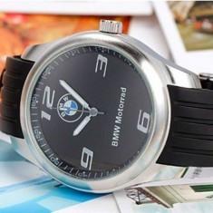 BMW Ceas Model BMW curea silicon cadran negru  curea neagra MOTORRAD