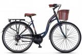 "Bicicleta City Umit Alanya, culoare Albastru/Maro, roata 24"", OtelPB Cod:24100000706"