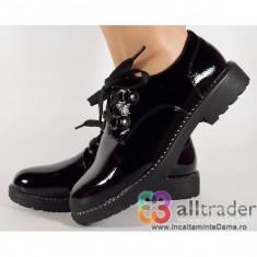 Pantofi office negri de lac dama/dame/femei (cod 029256)