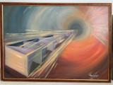 Cumpara ieftin Cristina Anghelescu - Continuum Spațiu-Timp, ulei pe pânză, semnat, 100*80 cm
