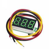Voltmetru afisaj LED culoare VERDE digital DC ( 0-100V ) (v.441)