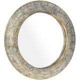 Oglinda Atena, metal, auriu, diametru 76 cm