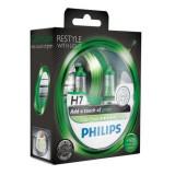 Set 2 Becuri Auto Philips H7 Color Vision Verde, 12V, 55W