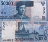 2013 , 50,000 rupiah ( P-152d ) - Indonezia - stare XF+