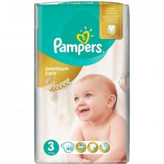 Scutece Pampers Premium Care 3 Midi Value Pack, 60 bucati