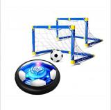 SET DE JOACA MINI, 2 PORTI DE FOTBAL CU MINGE ROTATIVA HOVER BALL