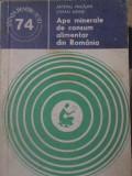 APE MINERALE DE CONSUM ALIMENTAR DIN ROMANIA - ARTEMIU PRICAJAN, STEFAN AIRINEI