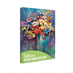 Tablou fosforescent Vaza cu flori