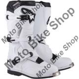 MBS Cizme motocross Alpinestars Tech 1, albe, 10=44.5, Cod Produs: 34101435PE