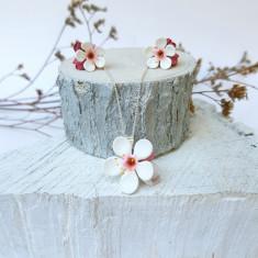 Set flori de cires,montura de argint