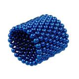 Neocube 216 bile magnetice 5mm, joc puzzle Zanox®, culoare albastru, peste 14 ani