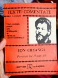 Texte comentate - Ion Creangă / Povestea lui Harap-Alb