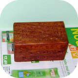 Caseta pentru bijuterii din lemn de nuc sculptat_manufactura