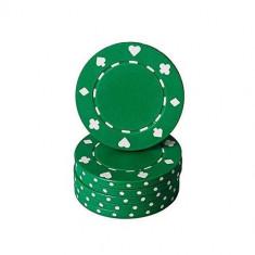 Jeton poker cu SimboluriCărţiPoker , verde 11,5g