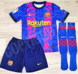 Compleu Echipament fotbal pt copii MESSI FC Barcelona ultimul model 2021-2022, YXS, YXXL, Tricou + Pantalon
