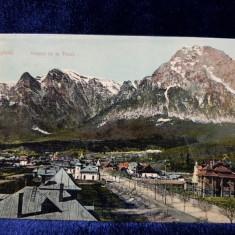 BUSTENI - VEDERE DE LA TUNEL , CARTE POSTALA ILUSTRATA , CIRCULATA , 1910