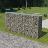 VidaXL Perete gabion cu capace, 300 x 50 x 150 cm, oțel galvanizat