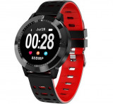 Bratara Fitness iUni CF58, Display OLED, Bluetooth, Pedometru, Monitorizare Puls, Notificari, Rosu