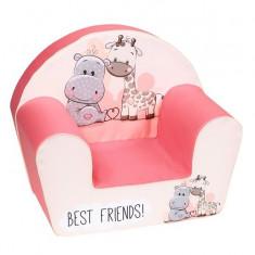 Fotoliu din burete pentru copii,  Best Friends