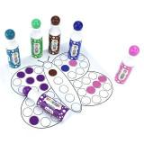 Carioci lavabile colorate, 45 ml, Dot Marker pentru buline, set 6 bucati