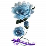 Aranjament handmade din hartie creponata Handmade by Diana Puiu AMHC 1 blue